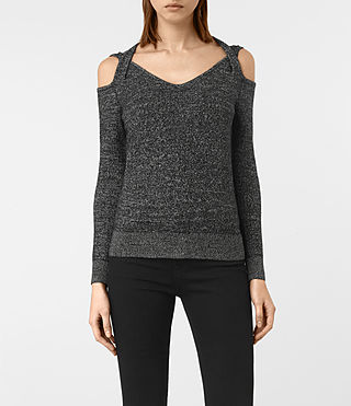 Womens Neri Twist Jumper (Black)