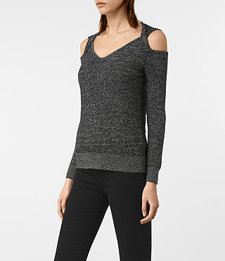 Femmes Neri Twist Jumper (Black) - product_image_alt_text_3