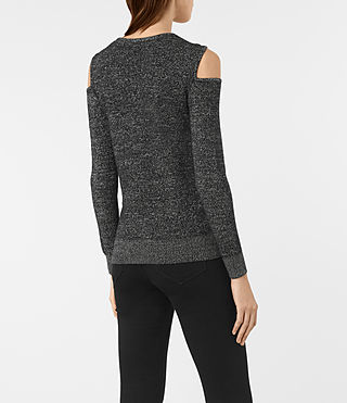 Femmes Neri Twist Jumper (Black) - product_image_alt_text_4