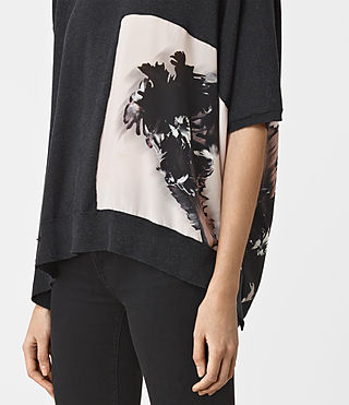 Damen Tulipa Knit Top (Cinder Black Marl) - product_image_alt_text_3