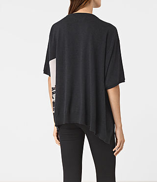 Damen Tulipa Knit Top (Cinder Black Marl) - product_image_alt_text_4