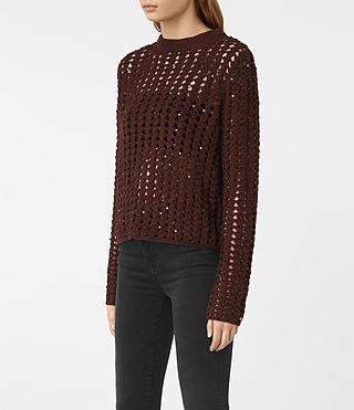 Donne Alyse Jumper (AUBERGINE RED) - product_image_alt_text_3
