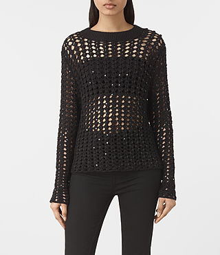 Damen Alyse Embellished Jumper (Black)