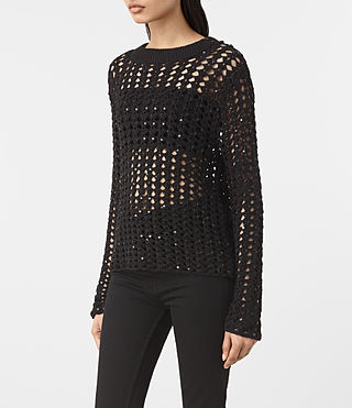 Womens Alyse Sweater (Black) - product_image_alt_text_3