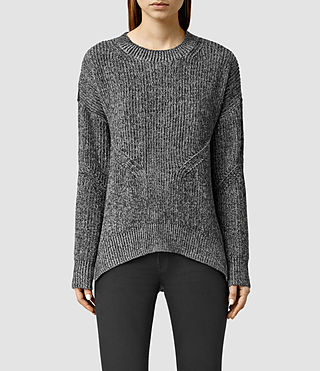 Womens Velo Sweater (Grey Marl/Black)