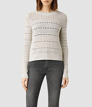 Womens Lota Cropped Sweater (PORCELAIN WHITE)