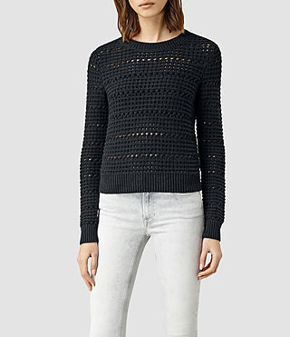 Womens Lota Cropped Sweater (CinderBlackMarl)