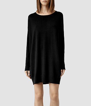 Womens Maher Jumper Dress (Black/Cinder)