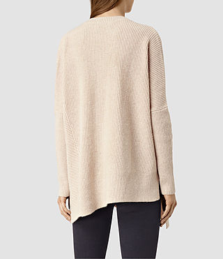 Women's Able Open Shoulder Jumper (Quartz Pink) - product_image_alt_text_3