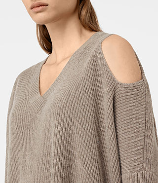 Mujer Able Open Shoulder Sweater (LUNAR GREY) - product_image_alt_text_2