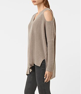 Womens Able Open Shoulder Sweater (LUNAR GREY) - product_image_alt_text_3