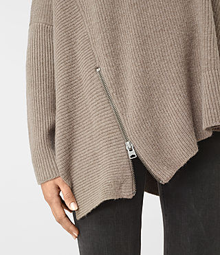 Womens Able Open Shoulder Sweater (LUNAR GREY) - product_image_alt_text_4