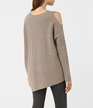 Womens Able Open Shoulder Sweater (LUNAR GREY) - product_image_alt_text_5
