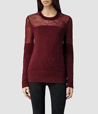 Womens Air Sweater (Rust Marl)