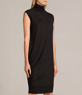 Women's Demi Sleeveless Dress (Black) - product_image_alt_text_3