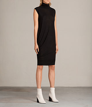 Women's Demi Sleeveless Dress (Black) - product_image_alt_text_5