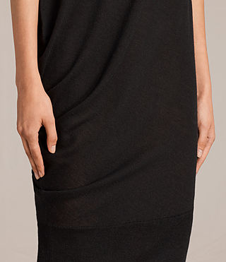 Women's Demi Sleeveless Dress (Black) - product_image_alt_text_6