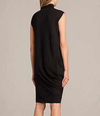 Women's Demi Sleeveless Dress (Black) - product_image_alt_text_7