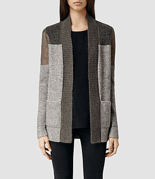 Womens Air Cardigan (Khaki)