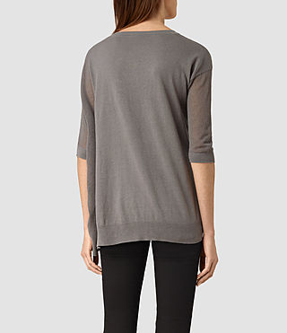 Mujer Cast Sweater (gunmetal green) - product_image_alt_text_3