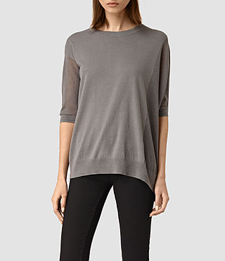 Womens Cast Jumper (Gunmetal) - product_image_alt_text_1