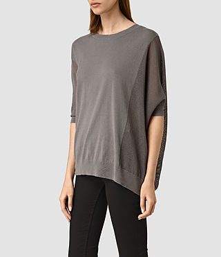 Womens Cast Jumper (Gunmetal) - product_image_alt_text_2