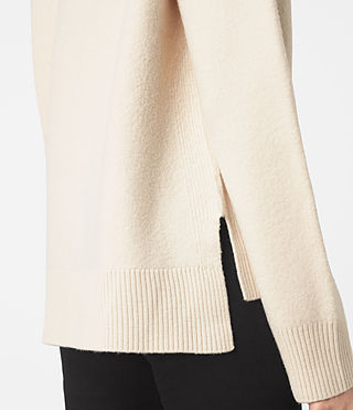Women's Axa Roll Neck Jumper (IVORY WHITE) - product_image_alt_text_2