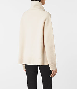 Women's Axa Roll Neck Jumper (IVORY WHITE) - product_image_alt_text_4