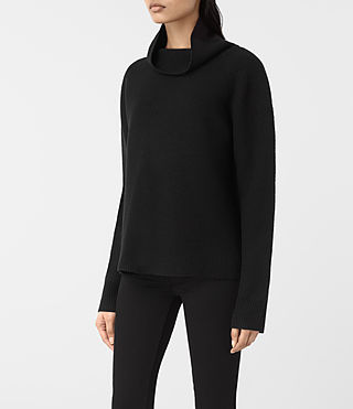 Womens Axa Roll Neck Sweater (Black) - product_image_alt_text_3