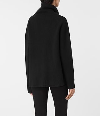 Womens Axa Roll Neck Sweater (Black) - product_image_alt_text_4