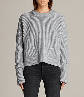 Damen Pierce Pullover (Grey Marl) - Image 1