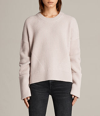 Womens Pierce Crew Sweater (Whisper Pink) - product_image_alt_text_1