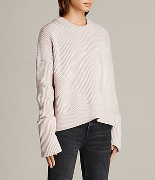 Womens Pierce Crew Sweater (Whisper Pink) - product_image_alt_text_3