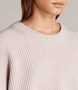 Womens Pierce Crew Sweater (Whisper Pink) - product_image_alt_text_4