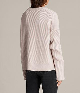 Womens Pierce Crew Sweater (Whisper Pink) - product_image_alt_text_5