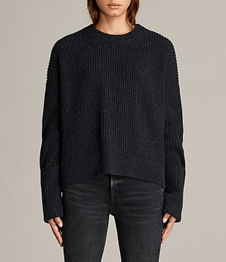 Women's Pierce Crew Jumper (Cinder Black Marl) - Image 1