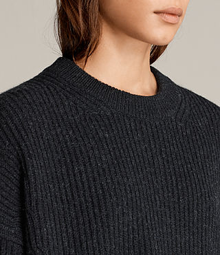 Women's Pierce Crew Jumper (Cinder Black Marl) - Image 3