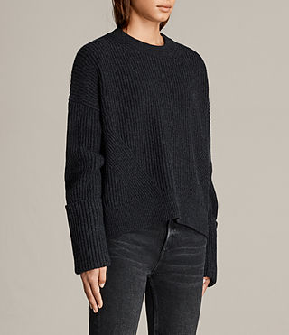 Women's Pierce Crew Jumper (Cinder Black Marl) - Image 4