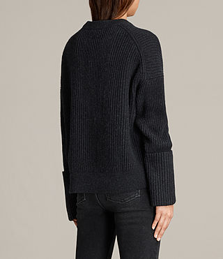 Women's Pierce Crew Jumper (Cinder Black Marl) - Image 5
