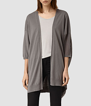 Womens Cast Cardigan (gunmetal green) - product_image_alt_text_1