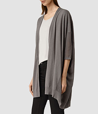 Mujer Cast Cardigan (gunmetal green) - product_image_alt_text_2