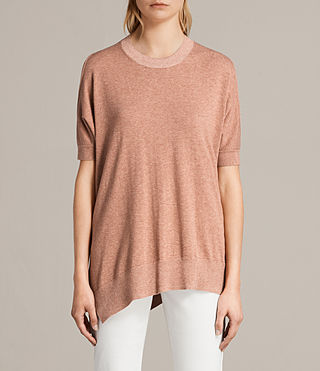 Women's Reya Knitted Top (BLUSH PINK) - Image 1