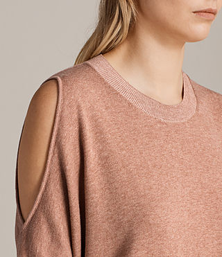 Women's Reya Knitted Top (BLUSH PINK) - Image 2