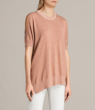 Women's Reya Knitted Top (BLUSH PINK) - Image 3