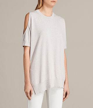 Womens Reya Top (PEARL GREY) - product_image_alt_text_3