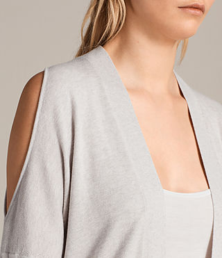 Donne Cardigan Reya (PEARL GREY) - product_image_alt_text_2