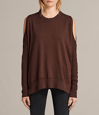Womens Reya Sweater (Port Red) - product_image_alt_text_1