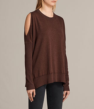 Womens Reya Sweater (Port Red) - product_image_alt_text_3