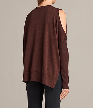Womens Reya Sweater (Port Red) - product_image_alt_text_4