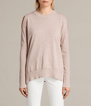 Womens Reya Sweater (Whisper Pink) - Image 1